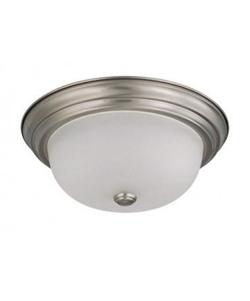 Nuvo Lighting 60/3262 2 Light 13 inch Flush Mount with Frosted White Glass