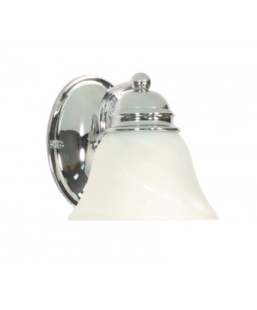 Nuvo Lighting 60/336 Empire 1 Light 7 inch Vanity with Alabaster Glass Bell Shades