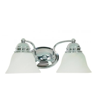 Nuvo Lighting 60/337 Empire 2 Light 15 inch Vanity with Alabaster Glass Bell Shades