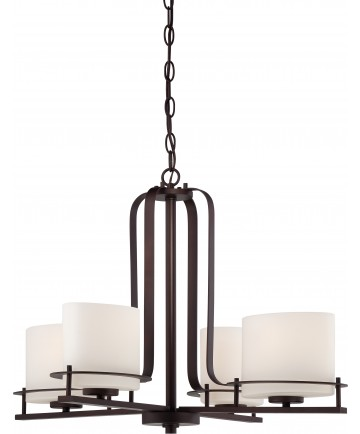 Nuvo Lighting 60/5004 Loren 4 Light Chandelier with Oval Frosted Glass