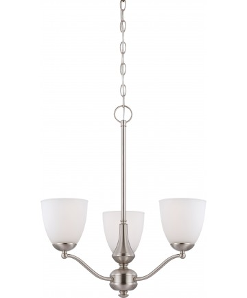 Nuvo Lighting 60/5036 Patton 3 Light Chandelier (Arms Up) with Frosted