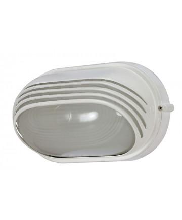 Nuvo Lighting 60/522 1 Light 10 inch Oval Hood Bulk Head Die Cast Bulk Head