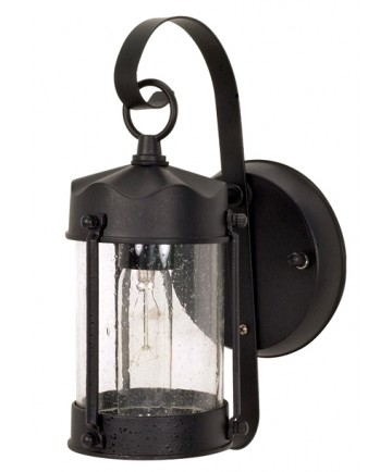 Nuvo Lighting 60/635 1 Light 11 inch Wall Lantern Piper Lantern with Clear Seed Glass