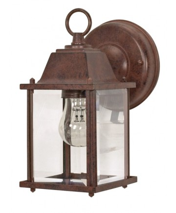 Nuvo Lighting 60/637 1 Light 9 inch Wall Lantern Cube Lantern with Clear Beveled Glass