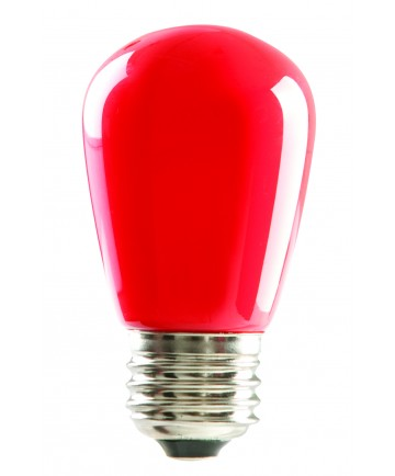 Halco 80517 S14RED1C/LED LED S14 1.4W Red Dimmable E26