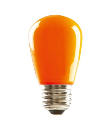 Halco 80523 S14ORG1C/LED LED S14 1.4W Orange Dimmable E26 ProLED