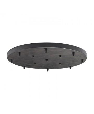 ELK Lighting 8R-DR Illuminare Accessories 8 Light Round Pan in Dark Rust
