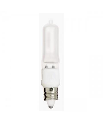 Satco S1915 Satco 75Q/F/MC 75 Watt 120 Volt T4 E11 Mini Can Frosted Halogen JD Light Bulb