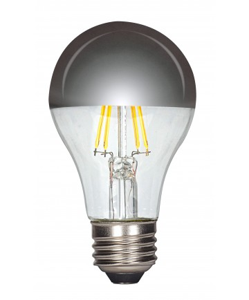 Satco S9826 6.5A19/SLV/LED/E26/27K/120V 6.5 Watts 120 Volts 2700K LED