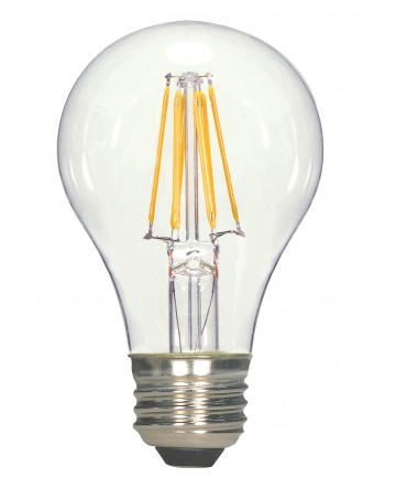 Satco S9894 6.5A19/CL/LED/E26/30K/120V 6.5 Watts 120 Volts 3000K LED