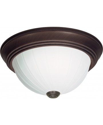 """Nuvo Lighting SF76/246 2 Light 11"""" Flush Mount Frosted Melon Glass"""