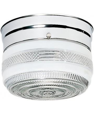 "Nuvo Lighting SF77/100 1 Light 6"" Flush Mount Small Crystal / White"
