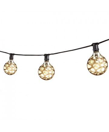 Bulbrite 810042 STRING15/E12/BLACK-G16MAR-KT Outdoor Mini String Light w/Incandescent G16 ...