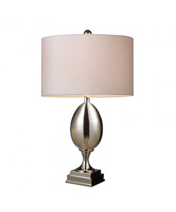 Dimond Lighting D1426W Waverly Table Lamp in Chrome Plated Glass with Milano Pure White Shade