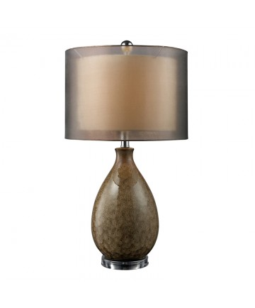 Dimond Lighting D1717 Brockhurst Table Lamp in Francis Fawn Finish with Bronze Organza Outer Shade and Cream Inner Shade