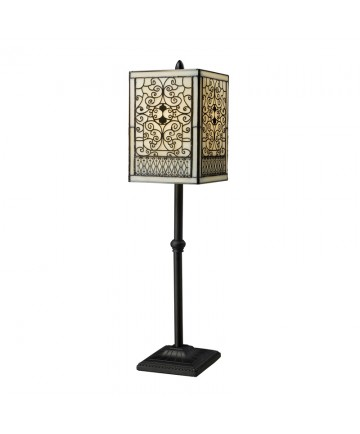 Dimond Lighting D1851 Adamson Table Lamp in Tiffany Bronze with Tiffany Glass Shade