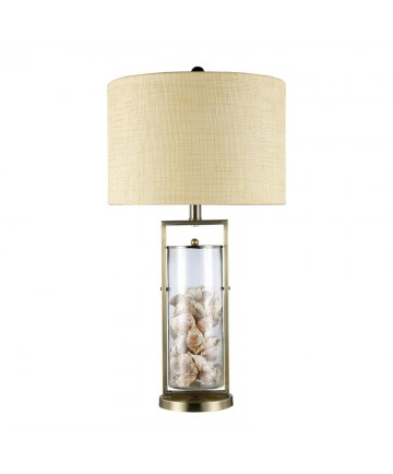 Dimond Lighting D1978 Millisle Table Lamp in Antique Brass and Clear Glass