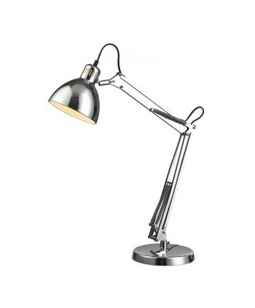 Dimond Lighting D2176 Ingelside Desk Lamp in Chrome with Chrome Shade