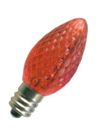 Halco 80506 C7RED/FC/LED C7 Red Faceted Cand. LED