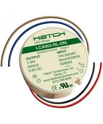 Hatch LCA003-RL-UNI 3 Watt Constant on LED Driver 90-264VAC Round