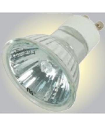 Satco S4192 Satco 35MR16/FMW/ALU/GU10 35 Watt 120 Volt MR16 GU10 Base Dimmable Aluminum Coated Reflector Flood 38 Degree Halogen MR Lamp