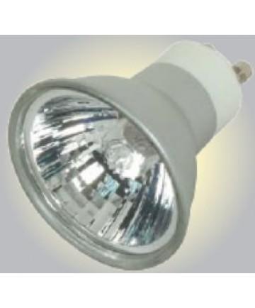 Satco S4182 Satco 50MR16/EXN/S/GU10 50 Watt 120 Volt MR16 GU10 Base Dimmable Silver Coated Reflector Flood 38 Degree Halogen MR Lamp
