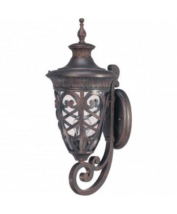 Nuvo Lighting 60/2053 Aston Outdoor Wall Lantern Clear Seeded Glass