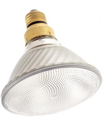 Satco S4634 Satco 120PAR/CAP/WFL 120 Watt 130 Volt PAR38 Medium Base Capsylite Spot Reflector Halogen Light Bulb