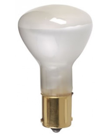 Satco S1383/TF Satco 20R11.5/1383 TF 20 Watt 13 Volt R-11 1/2 Single Contact Bayonet Base Frost High Intensity Miniature #1383 ShatterProof Light Bulb