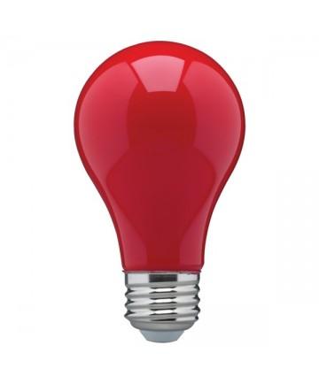 Satco S14984 8 Watt A19 LED Bulb Ceramic Red Medium Base