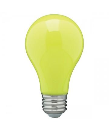 Satco S14987 8 Watt A19 LED Ceramic Yellow Medium 120 volts