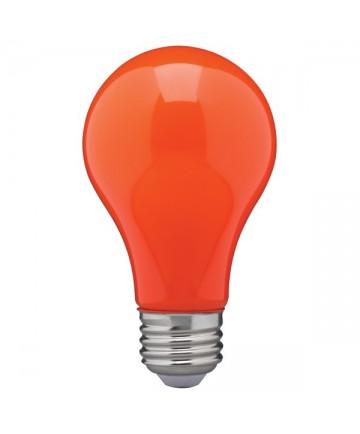 Satco S14988 8 Watt A19 LED Ceramic Orange Medium 120 volts