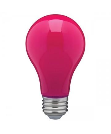 Satco S14989 8 Watt A19 LED Ceramic Pink Medium 120 volts