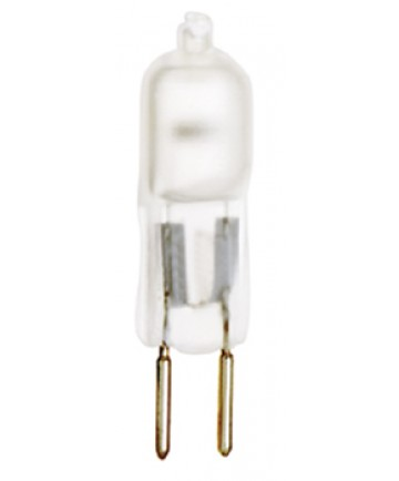 Satco S1912 Satco 75T4/F 75 Watt 12 Volt T4 Frosted GY6.35 Bi-Pin Base Halogen Light Bulb