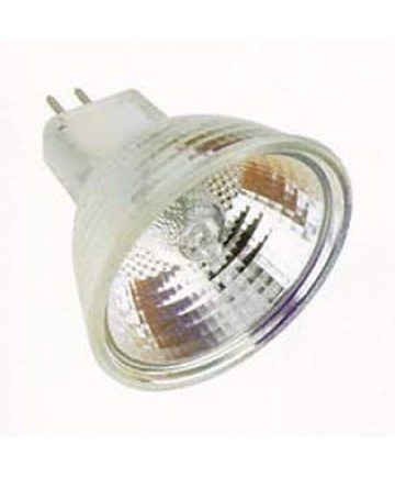 Satco S2617 Satco 20MR16/T/WFL60 20 Watt 12 Volt MR16 GU5.3 Base Hard Coated Dichroic Reflector Wide Flood Halogen Lamp