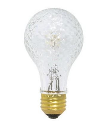 Satco S2647 Satco 50A/HAL/CRYSTAL 50 Watt 120 Volt A19 Medium Base Crystal Halogen Post Light Bulb