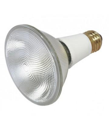 Satco S4930 Satco 50PAR30LN/CAP/NFL 130V 50 Watt 130 Volt PAR30 Medium Base Long Neck Narrow Flood Capsylite Halogen Light Bulb