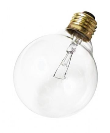 Satco A3644 Satco 40G25 220V 40 Watt 220 Volt G25 Medium Base Clear Decorative Globe Incandescent Light Bulb