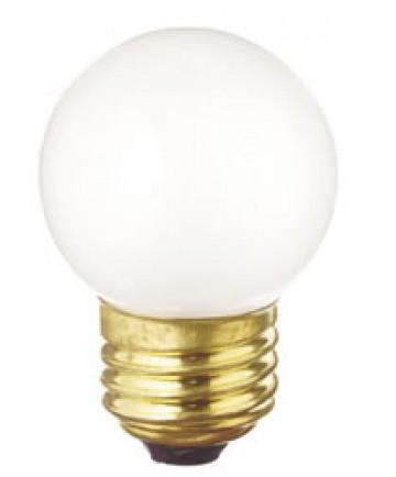 Satco S3968 Satco 40G17/W 40 Watt 130 Volt G17 E27 Medium Base White Globe Decorative Medicinie Cabinet Light Bulb