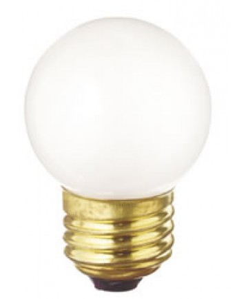 Satco S4710 Satco 40G17/W 40 Watt 130 Volt G17 E27 Medium Base White Globe Decorative Medicinie Cabinet Carded Light Bulb