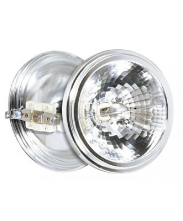 Satco S4691 Satco 75AR111/SP8 75 Watt 12 Volt AR111 G53 Base Spot 8 Degree Halogen Aluminum Reflector Lamp