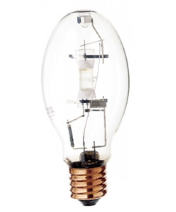 Satco S4268 Satco MS250W/BU/LU 250 Watt ED28 Mogul Base 4000K Clear Standard Start White Lux Metal Halide Light Bulb