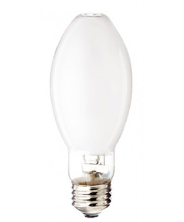 Satco S5125 Satco LU100/D/MED 100 Watt ED17 E26 Medium Base Coated ANSI S54 24,000 Hour 2100K High Pressure Sodium Light Bulb