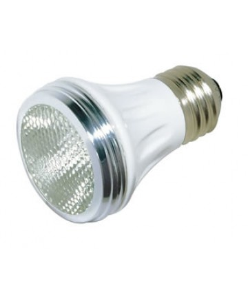 Satco S4900 Satco 60PAR16/CAP/NFL 60 Watt 120 Volt PAR16 Medium Base Narrow Flood Capsylite Halogen Light Bulb