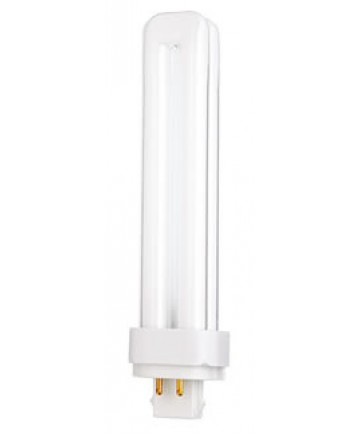 Satco S8339 Satco CFD26W/4P/835/ENV 26 Watt T4 G24q-3 4 Pin Base Quad Tube 3500K 10,000 Hour Compact Fluorescent Lamp (CFL)