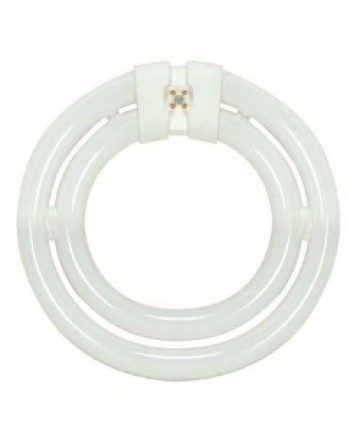Satco S6508 Satco 40 Watt T9 4-Pin G10Q Base 3000K Soft White 10,000 Hour 2C Circline Compact Fluorescent Lamp (CFL)
