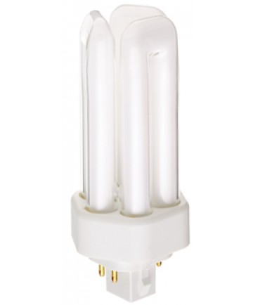 Satco S4372 Satco CF13DT/E/841 13 Watt 120 Volt T4 Triple Tube GX24Q-1 4 Pin Electronic Compact Fluorescent Lamp (CFL)