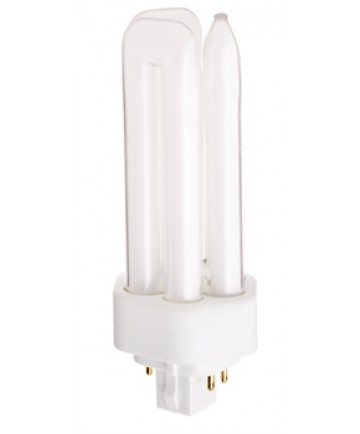 Satco S8346 Satco CFT26W/4P/830/ENV 26 Watt T4 GX24q-3 4 Pin Base Triple Tube 3000K 10,000 Hour Compact Fluorescent Lamp (CFL)