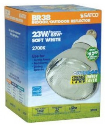 Satco S7274 Satco 23 Watt 120 Volt BR38 E26 Medium Base 2700K