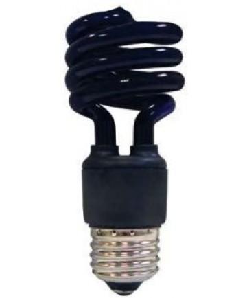 Satco S5515 Satco 13 Watt 120 Volt T2 Ultra Mini Spiral E26 Medium Base Blacklight 10,000 Hour Party Compact Fluorescent Light Bulb (CFL)